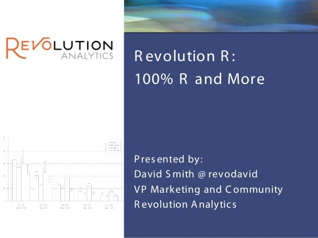 Revolution ConfidentialR evolution R :100% R and MoreP res ented by:David S mith @ revodavidV P Marketing and C ommunityR ...