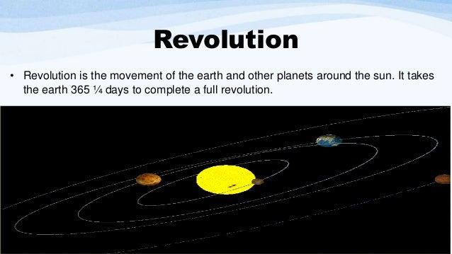 planets rotation and revolution - photo #27