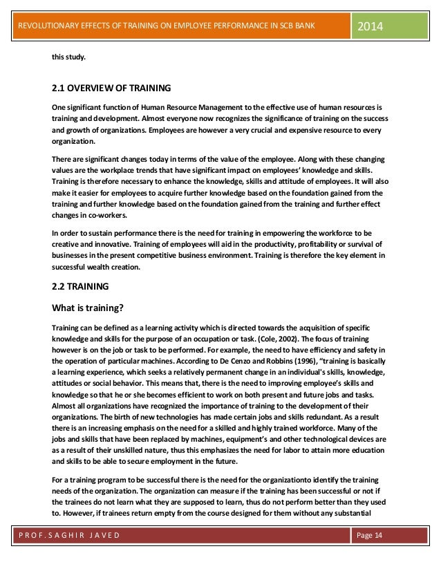 the effect of training on employee Training has been found to link with improving job satisfaction and employee intention to stay the purposes of this research were to investigate the expectations and perceptions of training quality between hotel managers and employees, and to suggest implications for improving training quality and increasing training.