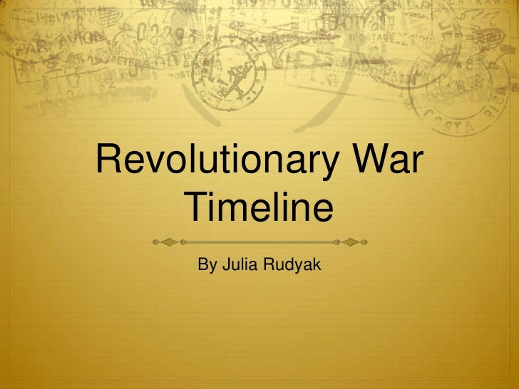 Dates of revolutionary war in Perth