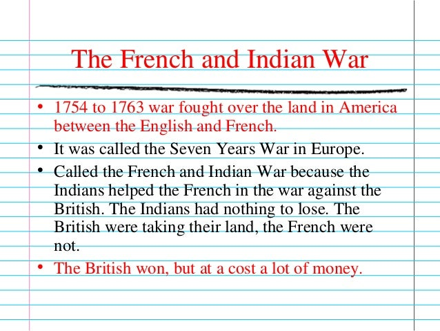 an overview of the consequences after the french and indian war Previous: 1760-1763 - the closing campaigns | french & indian war/seven years' war: overview the treaty of paris having abandoned prussia, clearing the way to make a separate peace with france and spain, the british entered into peace talks in 1762 after winning stunning victories around the.