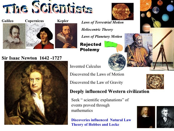 The Scientists Galileo  Copernicus  Kepler Laws of Terrestrial Motion Heliocentric Theory Laws of Planetary Motion Rejecte...