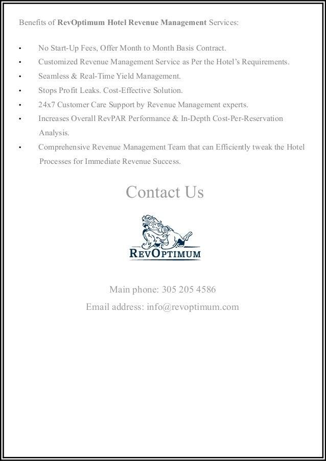 RevOptimum Hotel Revenue Management helps clients to