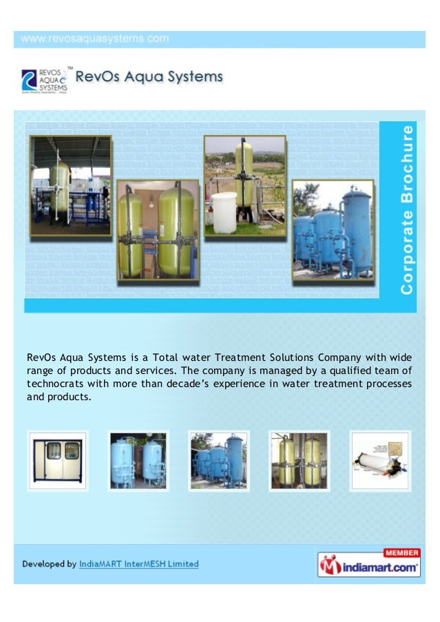 RevOs Aqua Systems is a Total water Treatment Solutions Company with widerange of products and services. The company is ma...