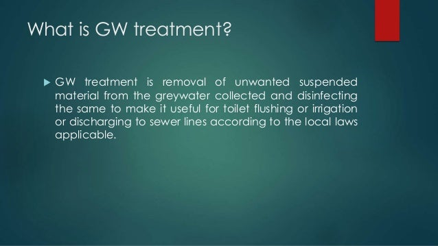 GREY WATER RECYCLING SYSTEM Slide 3