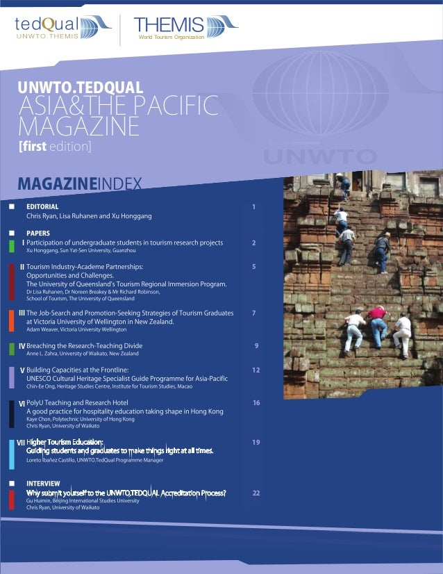 World Tourism OrganizationUNWTO.TEDQUALASIA&THE PACIFICMAGAZINE[first edition]MAGAZINEINDEX                               ...