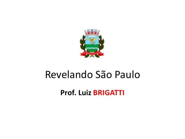 Revelando São Paulo Prof. Luiz BRIGATTI