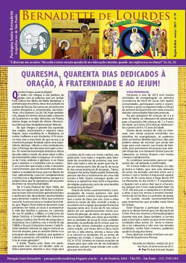 Paróquia Santa Bernadette                                                                                                 ...