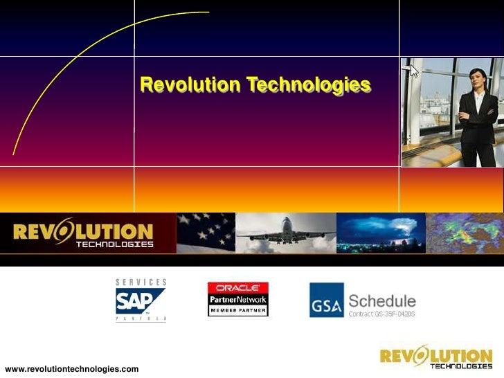 Revolution Technologies<br />www.revolutiontechnologies.com <br />