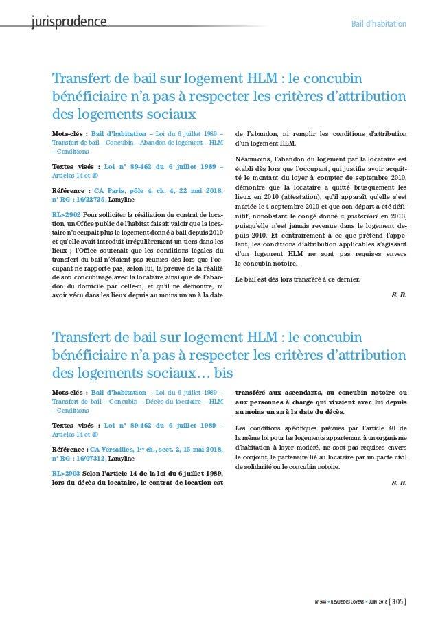 Extrait De La Revue Des Loyers