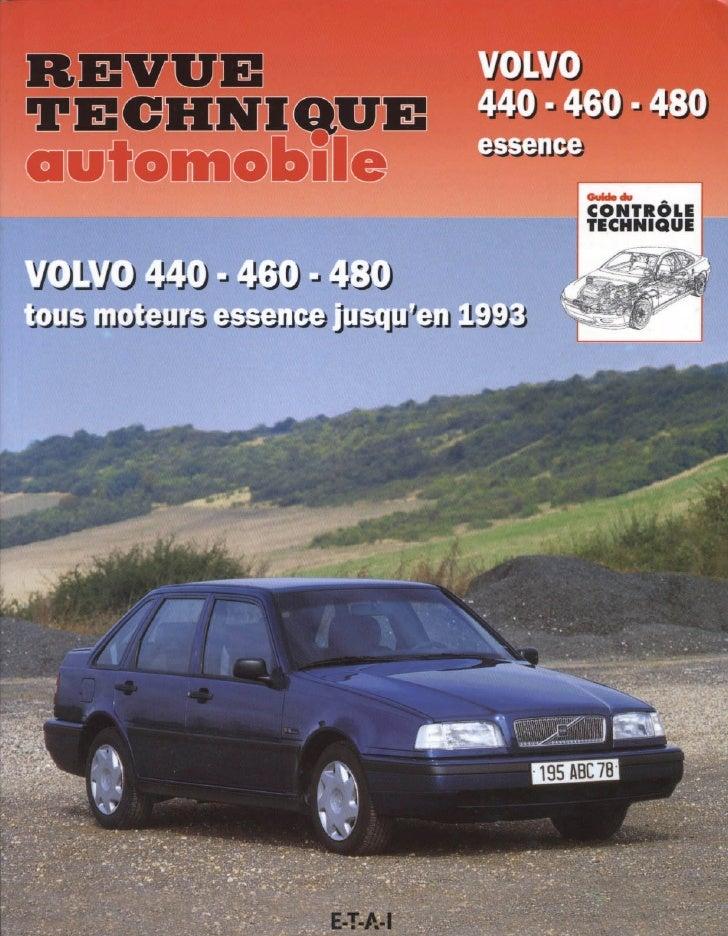 Revue Technique Volvo 440 460 480 (Assemble)