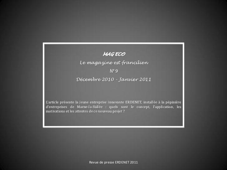 MAG ECO                    Le magazine est-francilien                                      N°9                  Décembre 2...