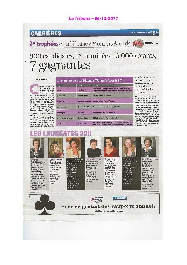 La Tribune – 06/12/2011