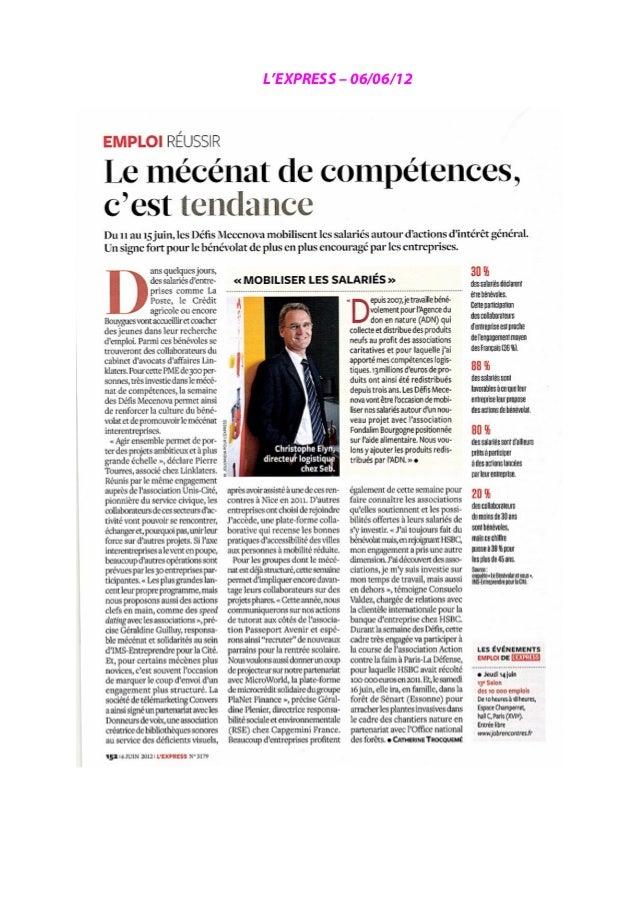 Le Monde – 15/05/12