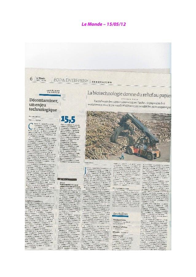 Revue de presse 2012   2013