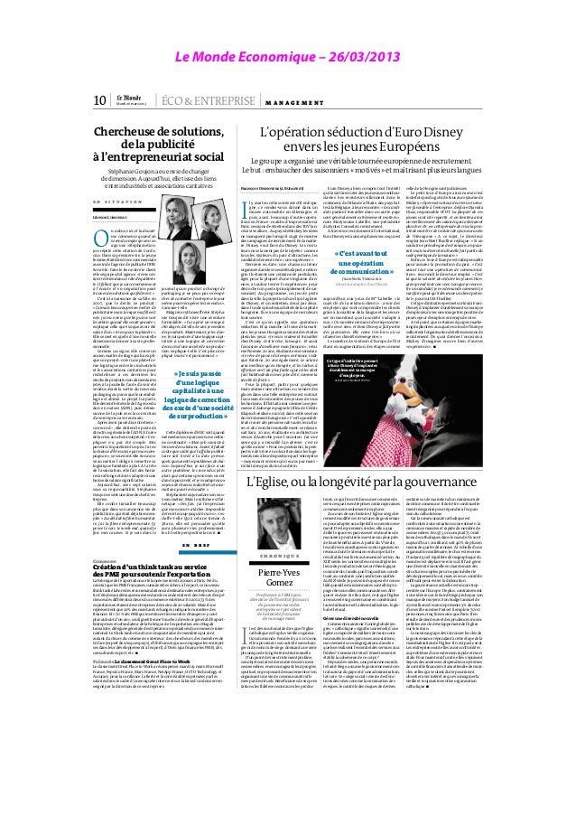 Le Monde Economique – 26/03/2013                                                                                          ...