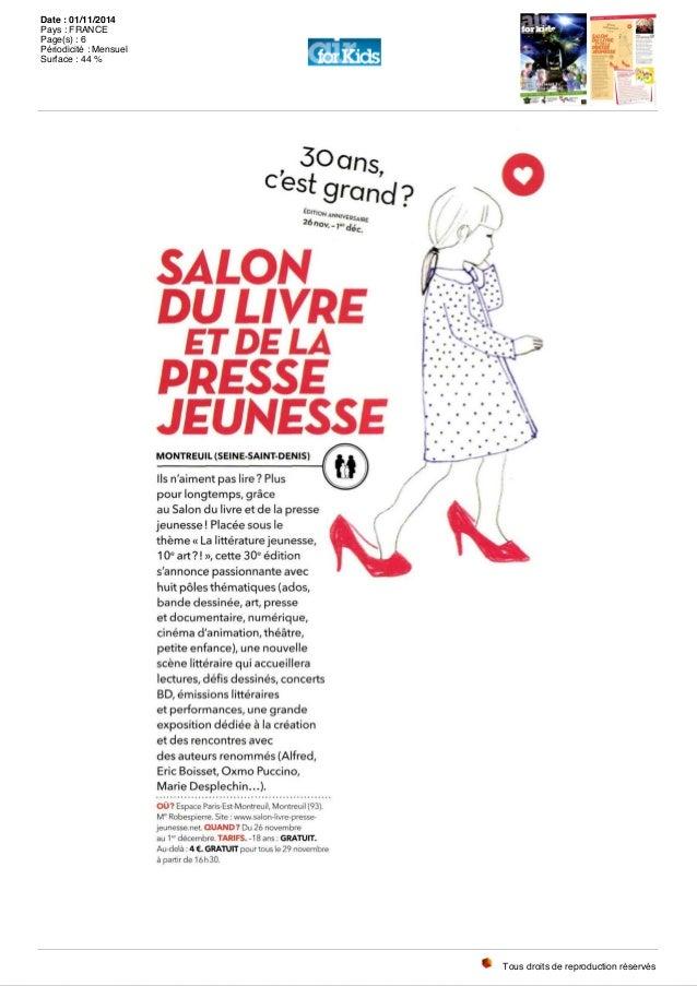 Revue de presse 30e salon du livre et de la presse - Salon du livre et de la presse jeunesse ...