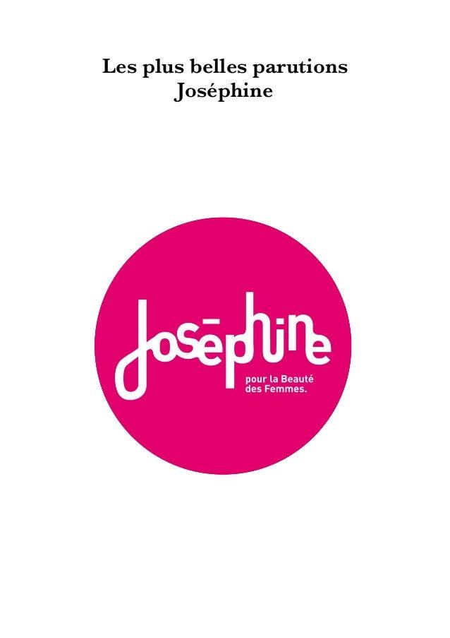 Les plus belles parutions Joséphine