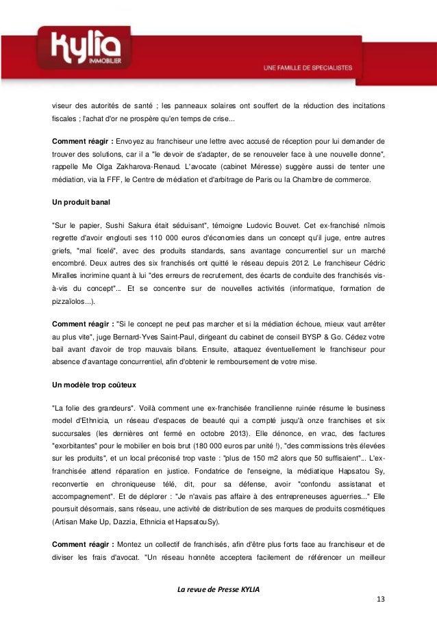 Revue de presse kylia semaine du 18 au 24 ao t 2014 - Chambre internationale de commerce arbitrage ...