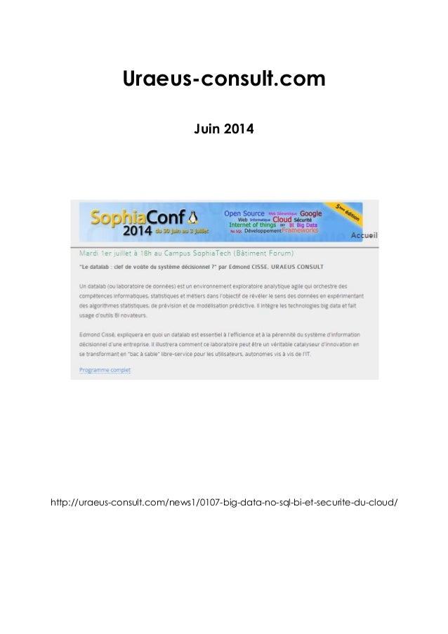 Revue de presse sophiaconf2014 for Consul openstack