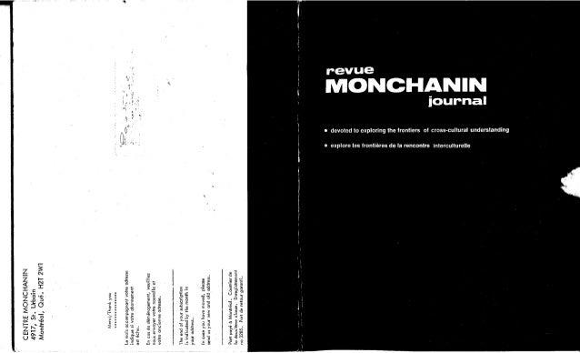 Revue monchanin vol.xii,no 1, cahier 62