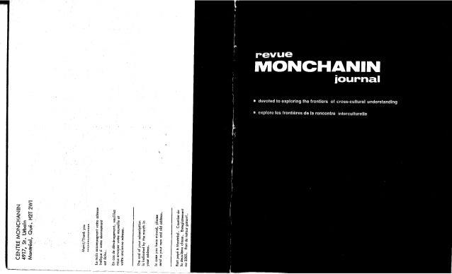 Revue monchanin vol xii,no2,cahier 63