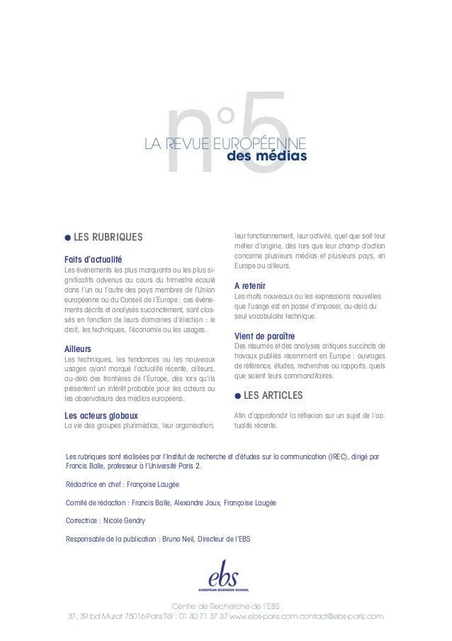 Centre de Recherche de l'EBS 37, 39 bd Murat 75016 Paris Tél : 01 40 71 37 37 www.ebs-paris.com contact@ebs-paris.com G LE...