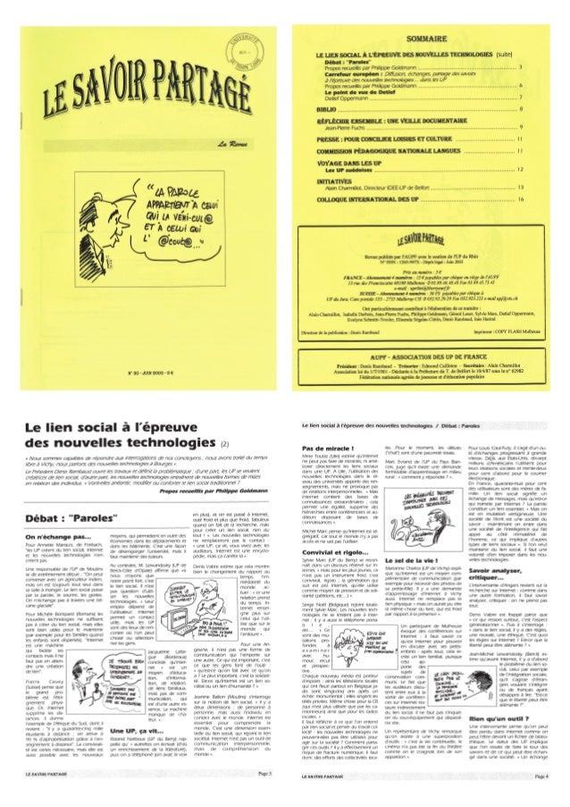 Revue Savoir Partagé AUPF n°30