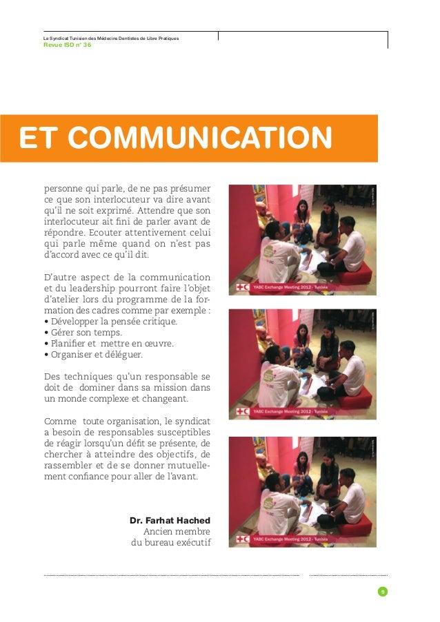 Le Syndicat Tunisien des Médecins Dentistes de Libre Pratiques63 °Revue ISD n                                     ...