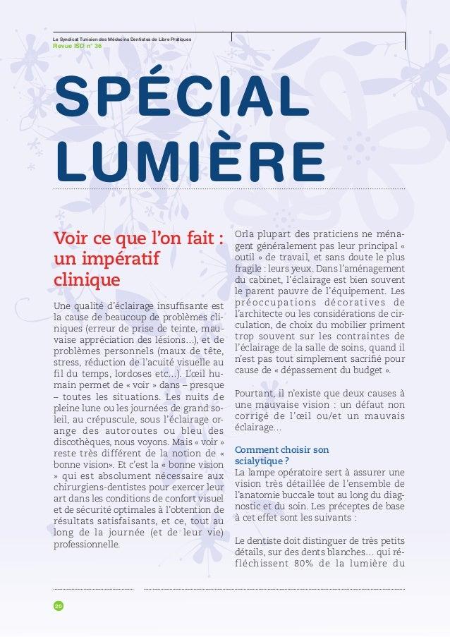 Le Syndicat Tunisien des Médecins Dentistes de Libre PratiquesRevue ISD n° 36Gafsa   Administration     Pays              ...