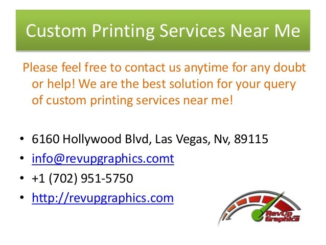RevUp Graphics -Custom Digital Printing Services Las Vegas