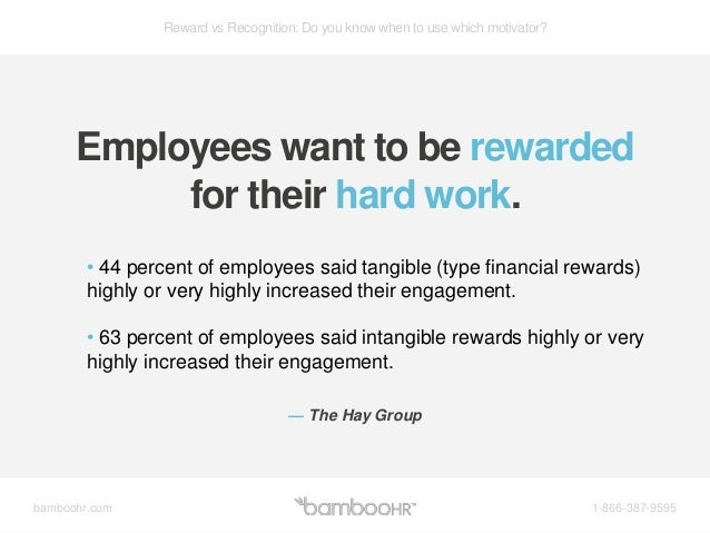 recognition for hard work