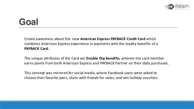 social media case study how american express promoted payback credi. Black Bedroom Furniture Sets. Home Design Ideas