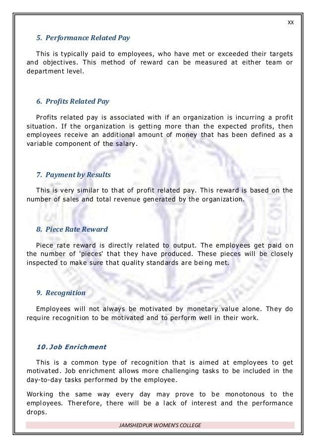 employee award criteria examples