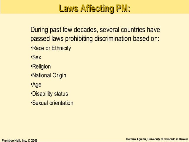 the three laws that discriminate on the basis of race and class in the united states Chairperson: ms marsha j darling (united states race, gender, class and other racialized women experience discrimination on the basis of race because the.