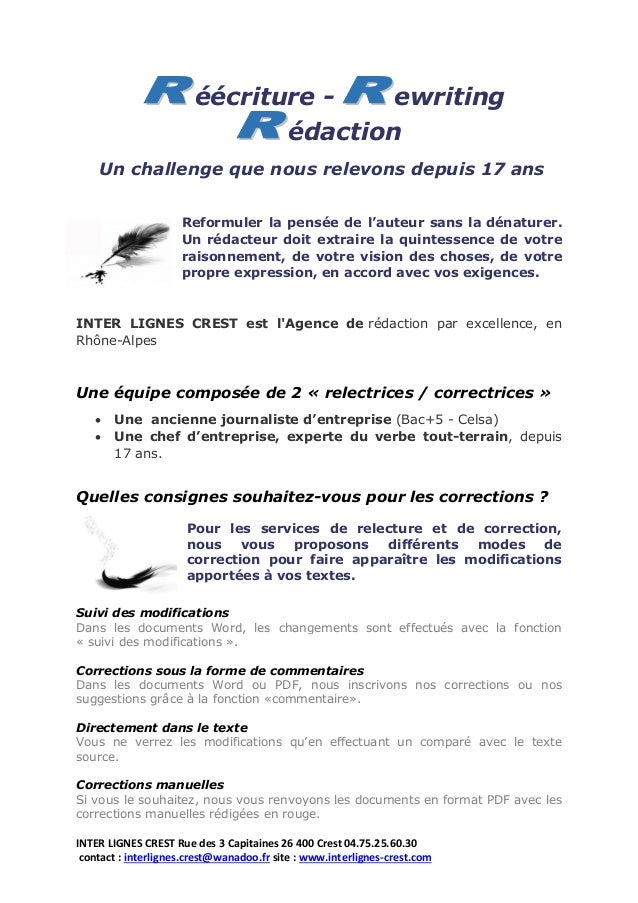 INTER LIGNES CREST Rue des 3 Capitaines 26 400 Crest 04.75.25.60.30 contact : interlignes.crest@wanadoo.fr site : www.inte...