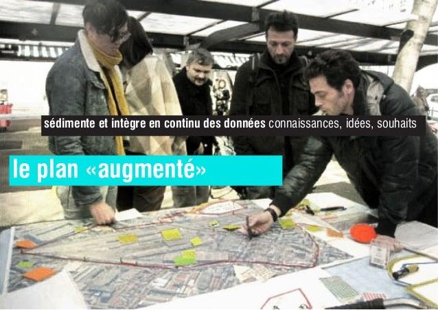 le plan «augmenté» sédimente et intègre en continu des données connaissances, idées, souhaits