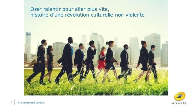 Oser ralentir pour aller plus vite, histoire d'une révolution culturelle non violente 1 REX DevOps de la DSI BSCC