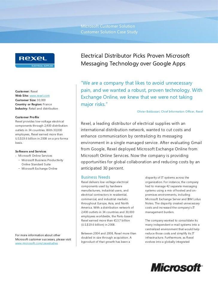 Electrical Distributor Rexel Picks Proven Microsoft