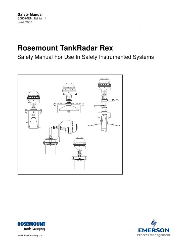 Safety Manual308020EN, Edition 1June 2007Rosemount TankRadar RexSafety Manual For Use In Safety Instrumented Systemswww.ro...