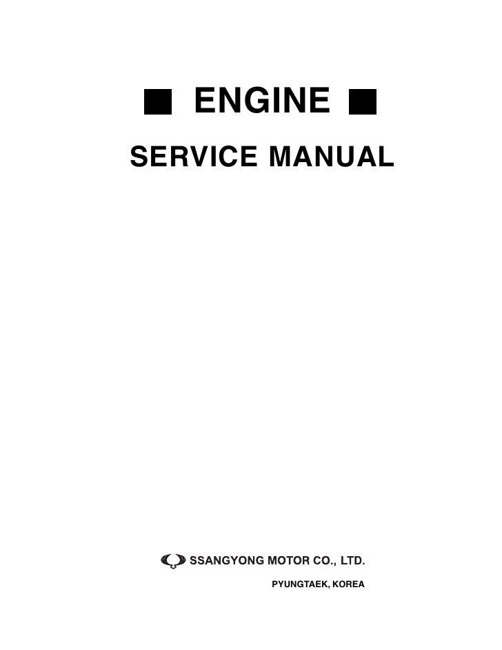 rexton service manual engine rh slideshare net Ssangyong Rexton Interior Ssangyong Rexton Interior