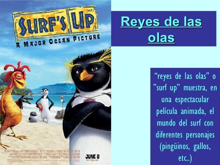 """Reyes de las olas """" reyes de las olas"""" o """"surf up"""" muestra, en una espectacular película animada, el mundo del surf con di..."""