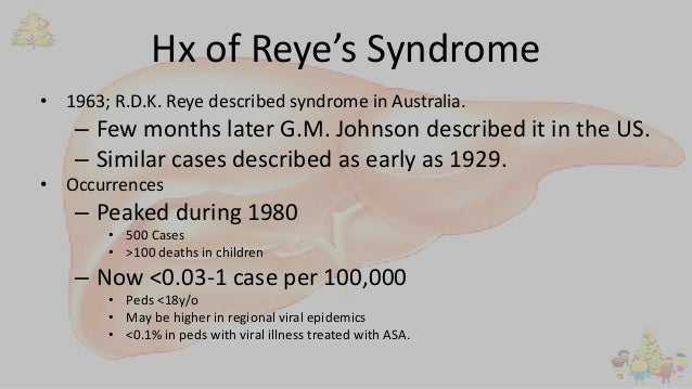 A clinical diagnosis of Reye's syndrome was made. The clinical staging of Reye's  syndrome was stage I on admission, and progressed to stage V over a period  ...