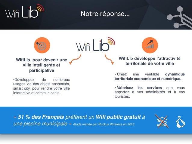 Notre réseau WifiLib couvre les zones de déploiement non pas avec des hots spots, mais avec un réseau linéaire pour permet...