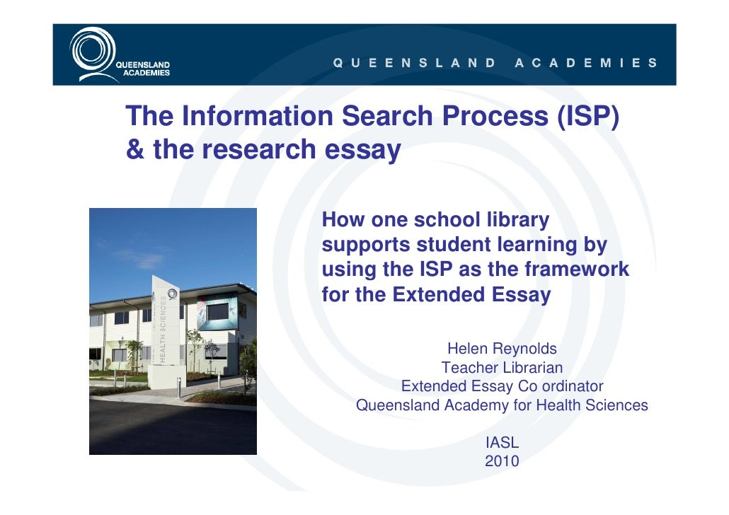 The Information Search Process (ISP) and the research essay