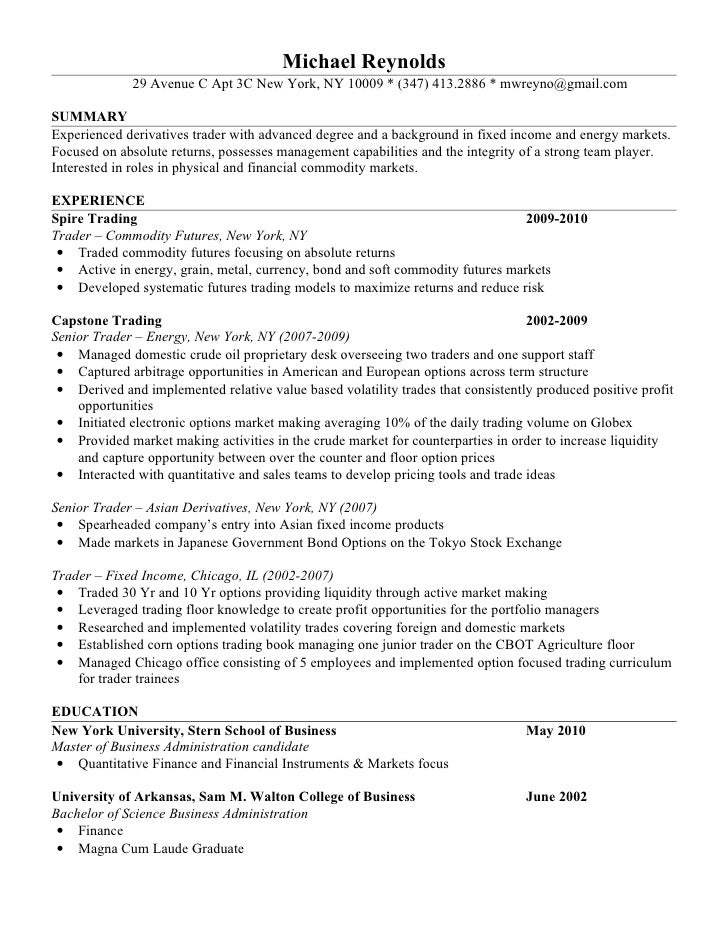 Resume for hotel industry