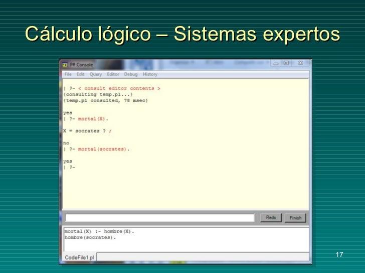 Cálculo lógico – Sistemas expertos