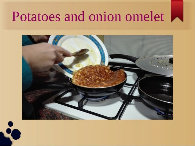 Potatoes and onion omelet