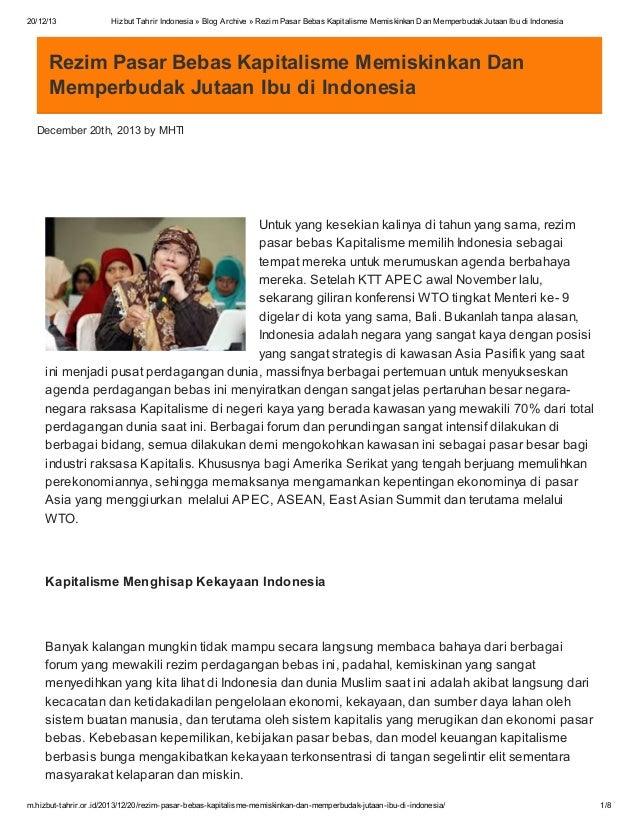 20/12/13  Hizbut Tahrir Indonesia » Blog Archive » Rezim Pasar Bebas Kapitalisme Memiskinkan Dan Memperbudak Jutaan Ibu di...