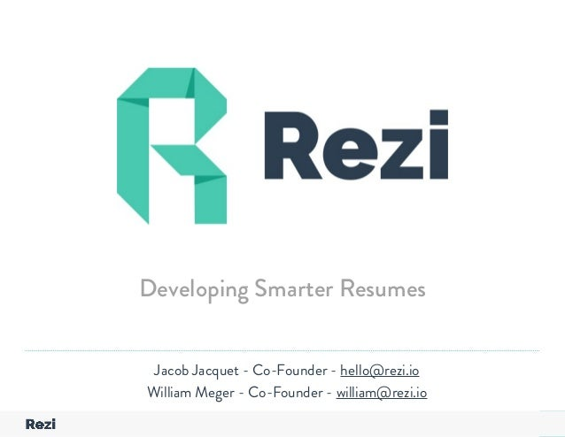 Attractive PageYour Company Name Presentation Jacob Jacquet   Co Founder   Hello@rezi.io  ...